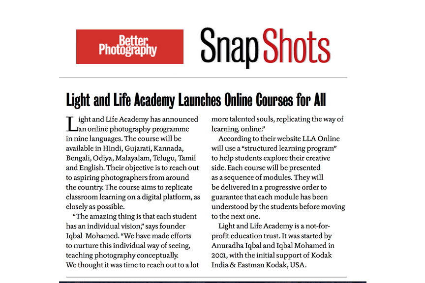 Light and Life Academy Launches Online Courses for All – Better Photography