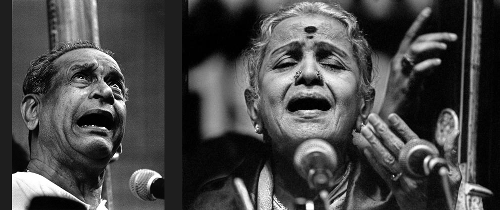 Bhimshen Joshi(left), MS Subbalakshmi(right)